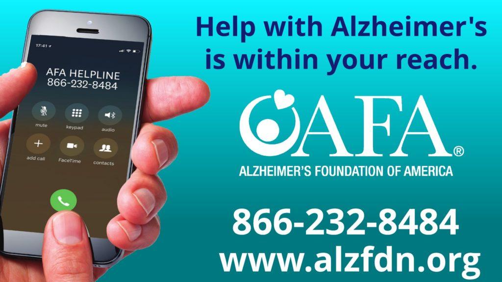 Alzheimer's Foundation of America   AFA Helpline