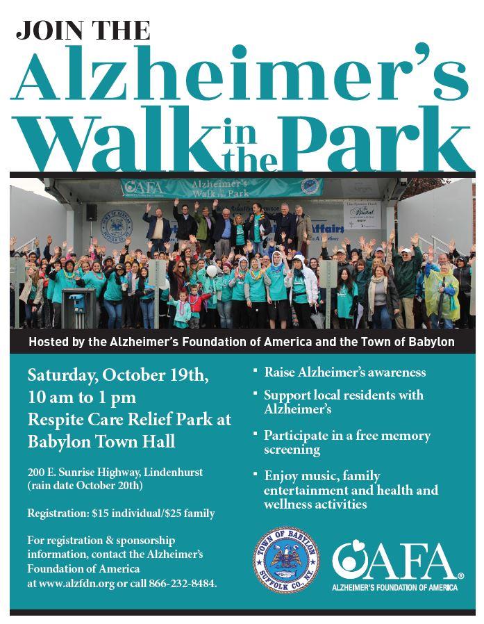 Alzheimer S Foundation Of America Alzheimer S Walk In The Park